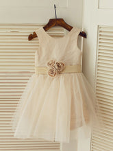 Short Champagne Flower Girl Dress Tutus ASD085