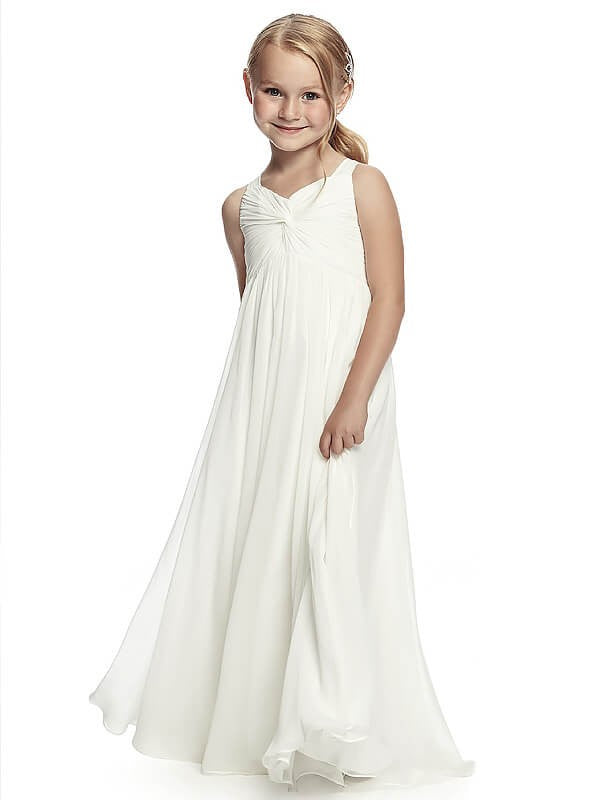White Ivory Flower girl Dress First Communion Dress ALD054