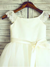 White Ivory Short Lace Tulle Flower Girl Dress Tutus little Baby Princess Gown ASD052
