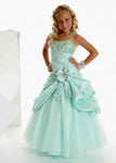 Aprildress Blue Flower Girl Dress with Crystals Pearls Pageant Gown for Teens ALD051