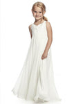 Aprildress White Ivory Flower girl Dress First Communion Dress ALD054