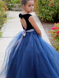 Floor Length A Line Flower Girl Dresses Girls' Pageant Dress Party Gown ALD085