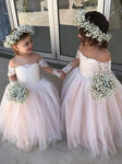 Aprildress Cute Pink Lace Tulle Flower Girl Dresses for Wedding Party ALD097