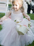 Aprildress Pink Tutus Skirt Puffy Flower Girl Dresses for Wedding Party ALD101