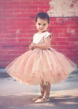 Aprildress Short Champagne Flower Girl Dress Tutus for Wedding Kids Ball Gown ASD090