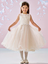 Ivory Champagne Lace Tulle Short Flower Girl Dress Kids Ball Gown ASD092