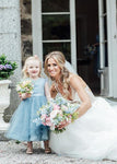 Aprildress Short Blue Lace Tulle Flower Girl Dresses ASD100