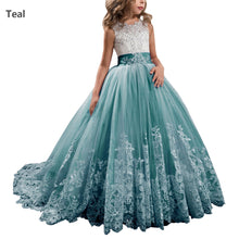 Vintage Lace Flower Girl Dresses Princess Ball Gown Pageant Dress MFD094