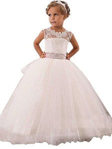 Vintage White Ivory Flower Girl Dresses for Wedding Event PFD035