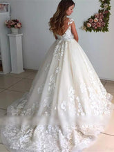 Elegant Lace Appliques Wedding Dresses Sleeveless Open Back Bridal Gown WD312