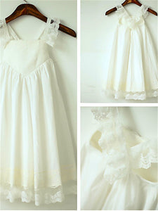 Chiffon Lace Short Flower Girl Dresses First Communion Dress ASD053