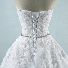 Sweetheart Lace Appliques Wedding Dresses A Line Bridal Gown WD355