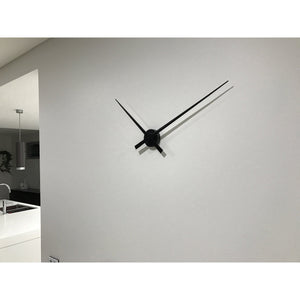 NeXtime - Large wall clock – Ø 85 cm - Aluminum - Black - 'Hands'