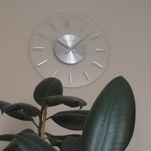 Load image into Gallery viewer, NeXtime - Wall clock – Ø 31 cm- Aluminum - Glass - 'Stripe'