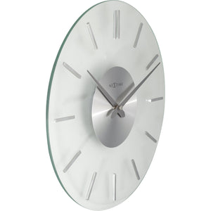 NeXtime - Wall clock – Ø 31 cm- Aluminum - Glass - 'Stripe'
