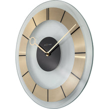Load image into Gallery viewer, NeXtime - Wall clock – Ø 31 cm - Glass - Gold - 'Retro'