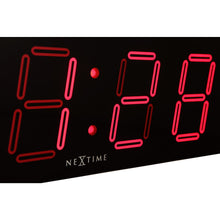 Load image into Gallery viewer, NeXtime - Wall/ table clock – 51.5 x 18x 4.5 cm –Plastic- Black- 'Big D'