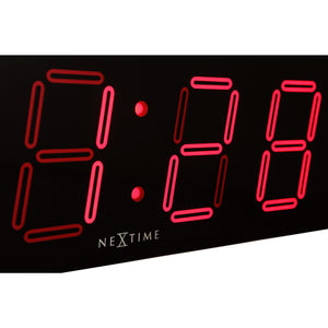 NeXtime - Wall/ table clock – 51.5 x 18x 4.5 cm –Plastic- Black- 'Big D'