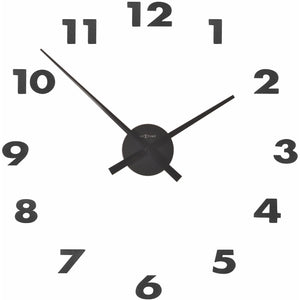NeXtime - Wall clock – 48 x 3 cm – Aluminum - Black - 'Small Hands'