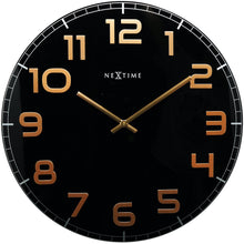 Load image into Gallery viewer, NeXtime - Wall clock – 50 x 3.5 cm - Glass - Black Copper - 'Classy Large'