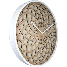 Load image into Gallery viewer, NeXtime - Wall clock – Ø 50 cm - Wood & Fabric - Beige - 'Sun Big'