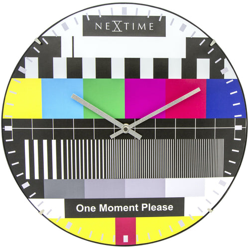 NeXtime - Wall clock - Ø 35 cm  - Dome Glass - Multi-color - 'Testpage Dome'