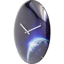 Load image into Gallery viewer, NeXtime - Wall clock - Ø 35 cm - Dome Glass - Glow-in-the-dark-  'Globe dome'