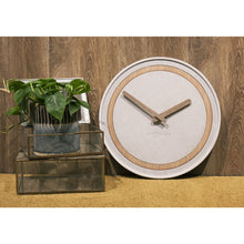 Load image into Gallery viewer, NeXtime - Wall Clock - Ø 39.5 cm - Polyresin/Wood – Grey – 'Concreto'