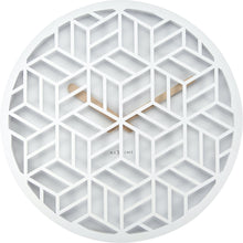 Load image into Gallery viewer, NeXtime - Wall clock - Ø 36 cm - Wood – White – 'Discrete'