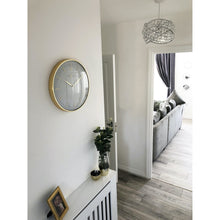 Load image into Gallery viewer, NeXtime - Wall clock- Ø 40 cm – Metal – Dome shaped glass- White – 'Glamour'