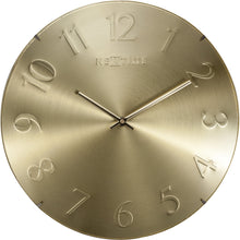 Load image into Gallery viewer, NeXtime - Wall clock- Ø 35 cm – Glass – Dome shaped glass- Gold – 'Elegant Dome'