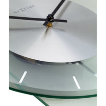 Load image into Gallery viewer, NeXtime- Wall clock - 70 x 30 cm - Glass / Metal - Transparant - 'Eleanor'