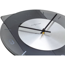 Load image into Gallery viewer, NeXtime- Wall clock - 70 x 30 cm - Glass / Metal - Grey - 'Eleanor'