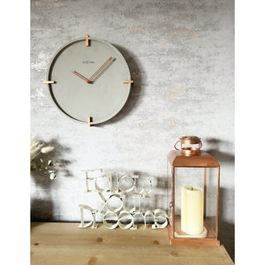 NeXtime - Wall clock - Ø 32 cm - Concrete - Grey - 'Mohawk Wall'