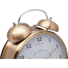 Load image into Gallery viewer, NeXtime - Table clock – Ø 23 cm - Metal - Copper - 'Wake Up'