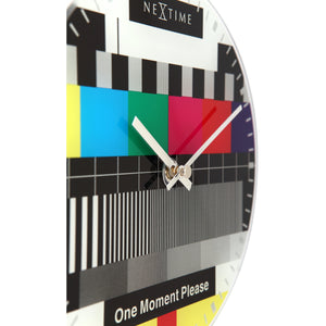 NeXtime - Wall clock/Table clock - Ø 20 cm - Glass – Various colors – 'Little Test Page'