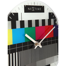 Load image into Gallery viewer, NeXtime - Wall clock/Table clock - Ø 20 cm - Glass – Various colors – 'Little Test Page'