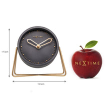Load image into Gallery viewer, NeXtime - Table clock – 17.5 x 15.5 x 5 cm - Polyresin - Black