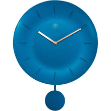 Load image into Gallery viewer, nXt - Wall clock - Ø 30 cm - Plastic - Turquoise - 'Bowl'