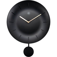 Load image into Gallery viewer, nXt - Wall clock - Ø 30 cm - Plastic - Black - 'Bowl'