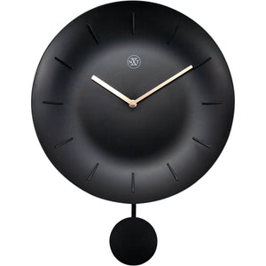 nXt - Wall clock - Ø 30 cm - Plastic - Black - 'Bowl'