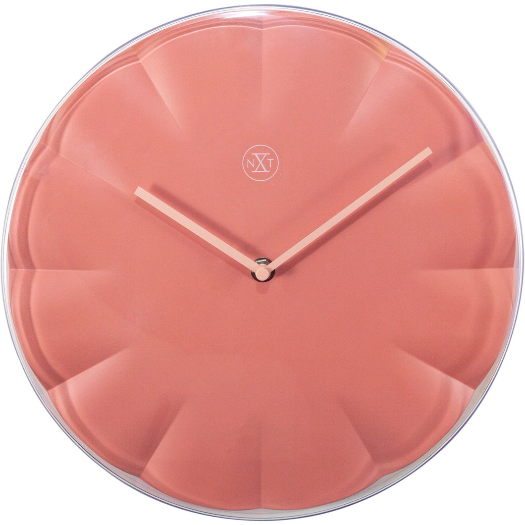 nXt - Wall clock - Ø 29,5 cm - Plastic - Red - 'Sweet'