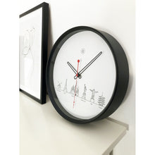 Load image into Gallery viewer, nXt- Wall clock - Ø 30 cm - Plastic - Black / White - 'Worldtour'
