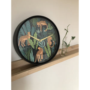 nXt- Wall clock - Ø 30 cm - Plastic - Green - 'Urban Jungle'
