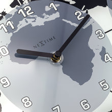 Load image into Gallery viewer, NeXtime - Wall clock – 50 x 18.6 x 3.6 cm - Glass – World time clock- White - 'Mondial'