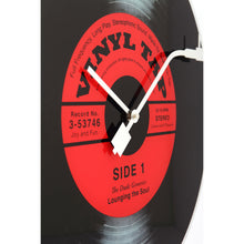 Load image into Gallery viewer, NeXtime - Wall clock- Ø 43 cm- Glass- Black- 'Vinyl Tap'
