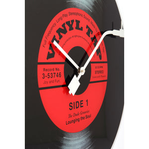 NeXtime - Wall clock- Ø 43 cm- Glass- Black- 'Vinyl Tap'
