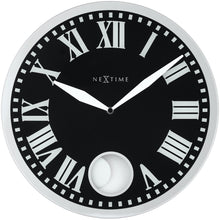 Load image into Gallery viewer, NeXtime - Wall clock – 43 x 4.2 cm - Glass - Black - 'Romana'