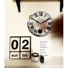 Load image into Gallery viewer, NeXtime - Wall clock – 43 x 4.2 cm - Glass - White - 'Romana'