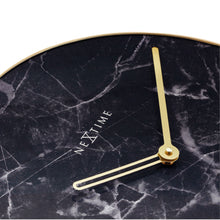 Load image into Gallery viewer, NeXtime - Wall clock - Ø 40 cm - Glass / Metal - Black - 'Marble'